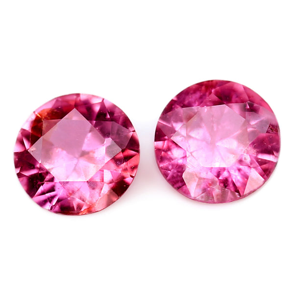 2.81mm Certified Natural Pink Sapphire Matching Pair
