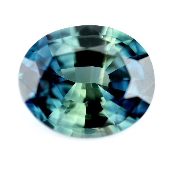 0.74ct Certified Natural Teal Sapphire