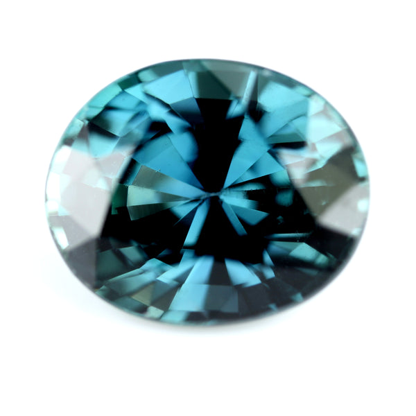 0.82ct Certified Natural Teal Sapphire