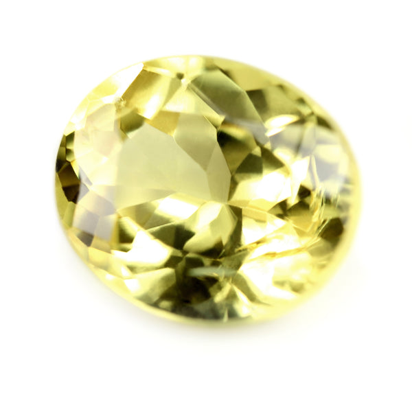 0.77ct Certified Natural Yellow Sapphire