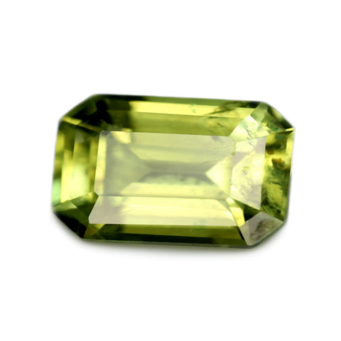 0.60ct Certified Natural Green Sapphire