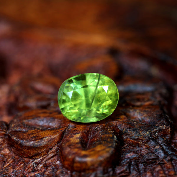 1.58ct Certified Natural Green Sapphire