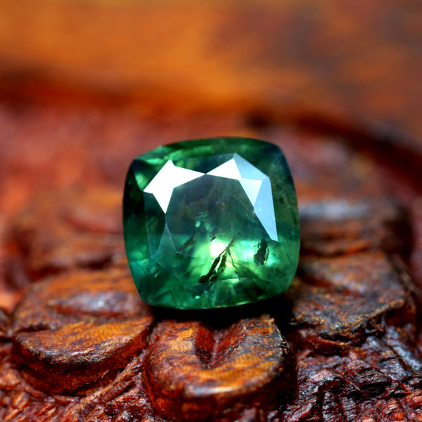 2.79ct Certified Natural Green Sapphire