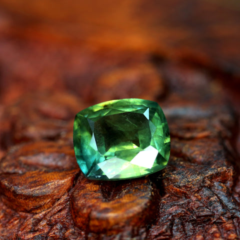 1.64ct Certified Natural Green Sapphire
