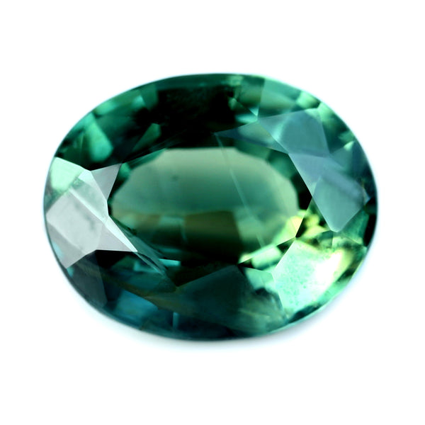 1.74ct Certified Natural Green Sapphire