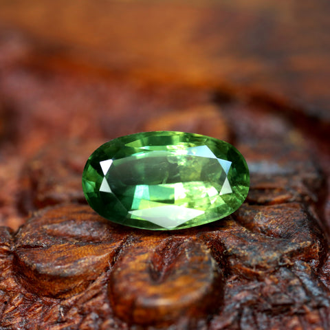 2.30ct Certified Natural Green Sapphire