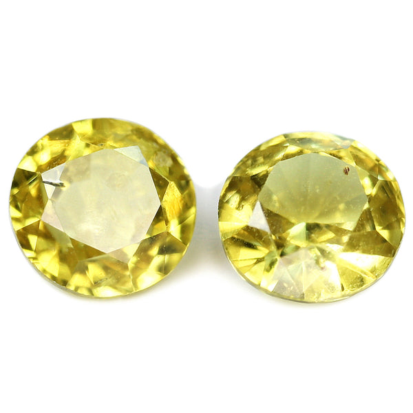 0.93ct Certified Natural Yellow Sapphire Matching Pair