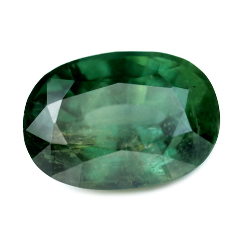 1.65ct Certified Natural Green Sapphire
