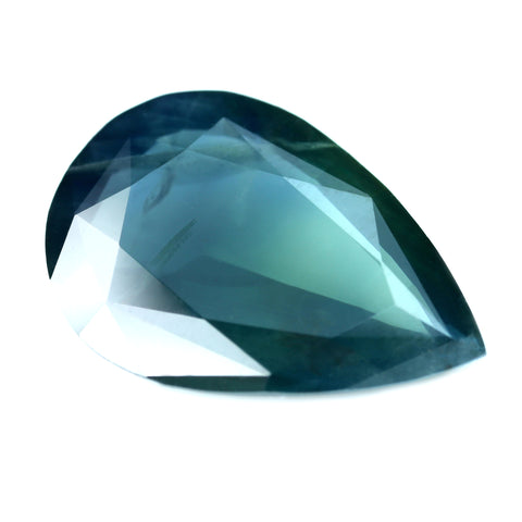 3.16ct Certified Natural Teal Sapphire