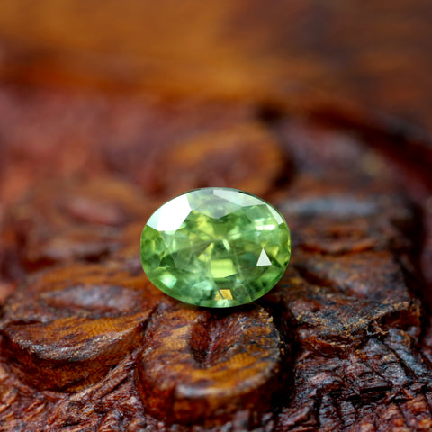1.34ct Certified Natural Green Sapphire