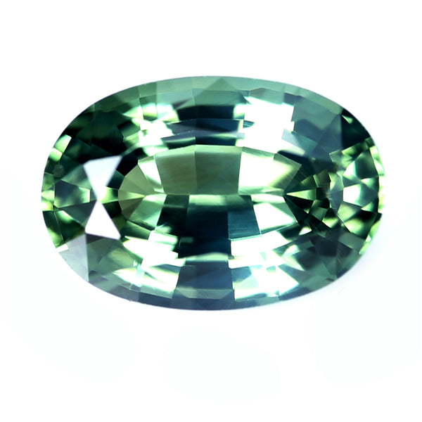 0.64ct Certified Natural Green Sapphire
