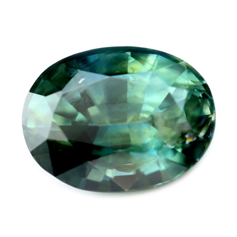 1.41ct Certified Natural Teal Sapphire