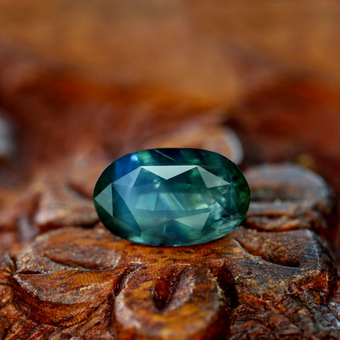 2.56ct Certified Natural Teal Sapphire