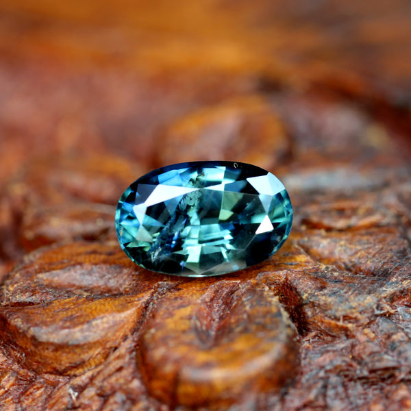 1.17ct Certified Natural Teal Sapphire