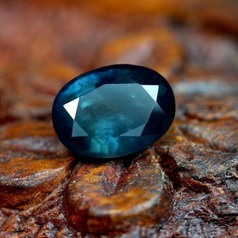 1.62ct Certified Natural Teal Sapphire