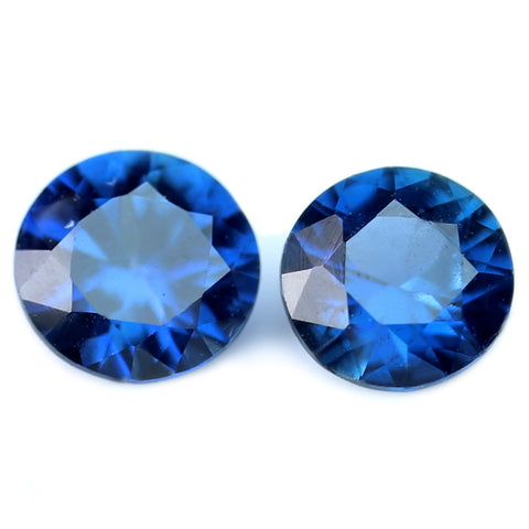 3.20mm Certified Natural Blue Sapphire Matching Pair