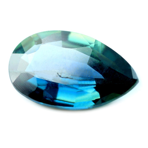 1.63ct Certified Natural Teal Sapphire