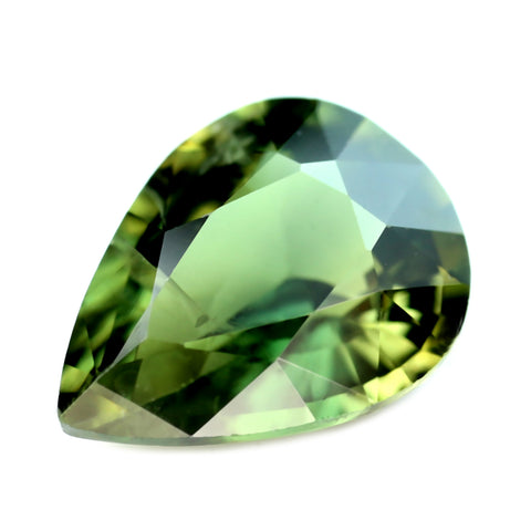 0.92ct Certified Natural Green Sapphire