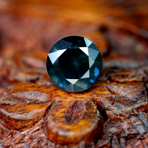 1.71ct Certified Natural Teal Sapphire