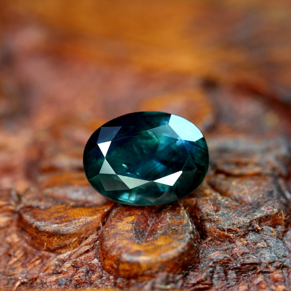 2.30ct Certified Natural Teal Sapphire