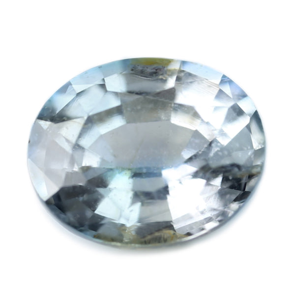 1.04ct Certified Natural White Sapphire