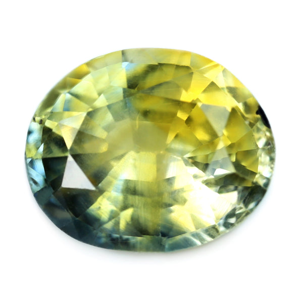 1.28ct Certified Natural Bicolor Sapphire