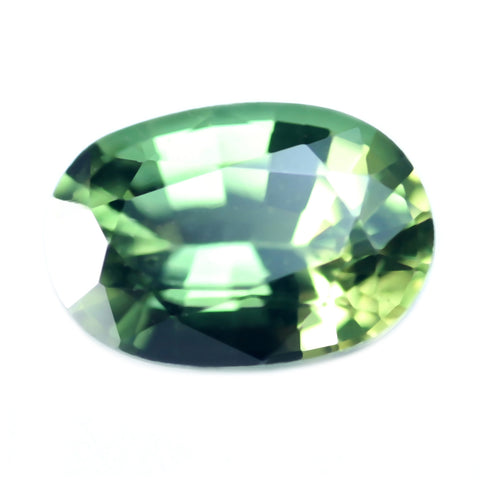 0.53ct Certified Natural Green Sapphire