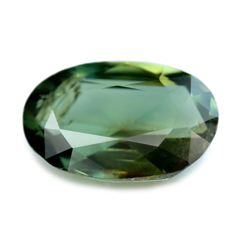 1.12ct Certified Natural Green Sapphire