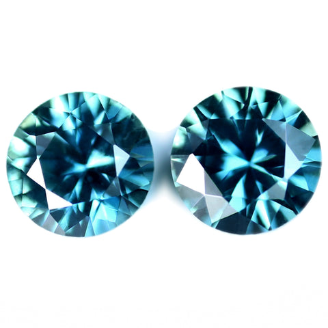 0.59ct Certified Natural Teal Sapphire
