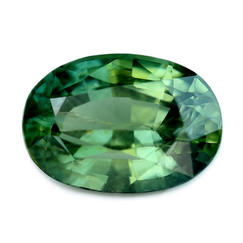 0.91ct Certified Natural Green Sapphire