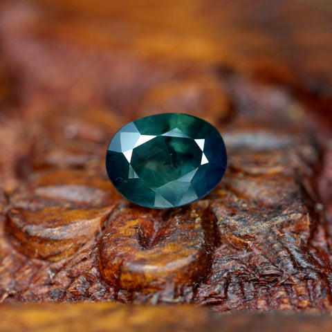 1.56ct Certified Natural Teal Sapphire