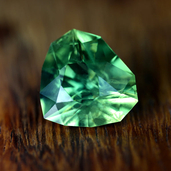 4.90ct Certified Natural Green Sapphire