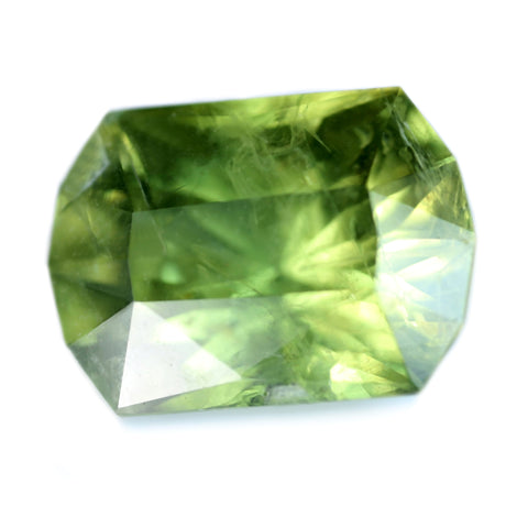 4.13ct Certified Natural Green Sapphire