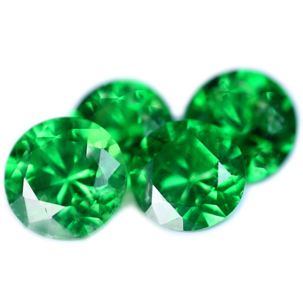 0.69ct Certified Natural Green Tsavorite Matching Set