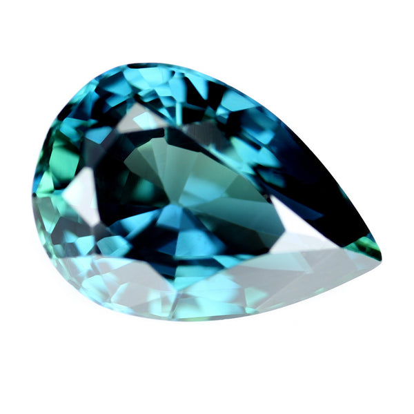 1.78ct Certified Natural Teal Sapphire