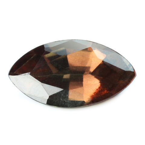 0.62ct Certified Natural Brown Sapphire