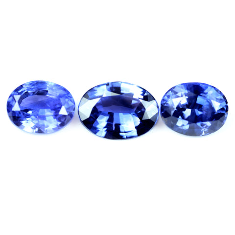 2.42ct Certified Natural Color Change Sapphire Set