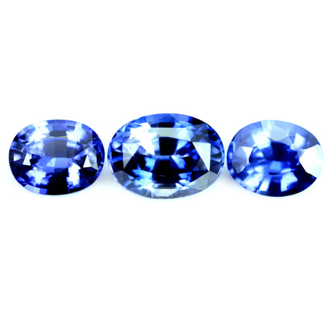 2.51ct Certified Natural Color Change Sapphire Set