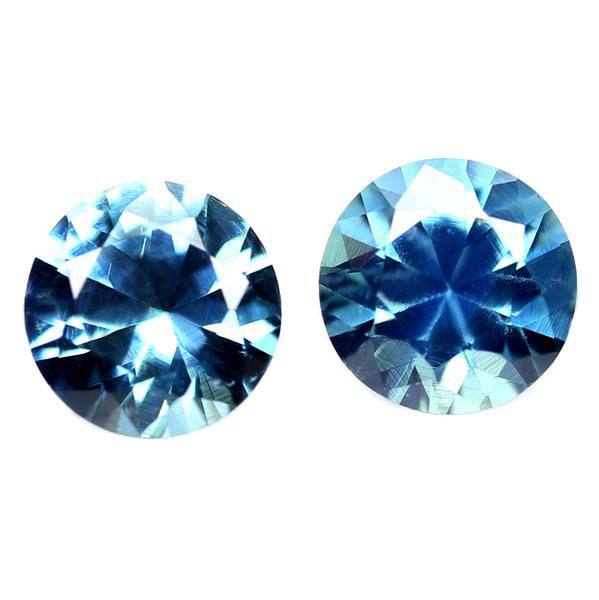 3.50mm Certified Natural Teal Sapphire Pair