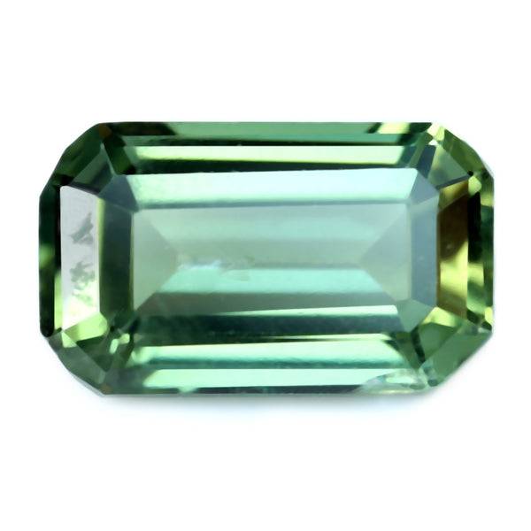 0.79ct Certified Natural Green Sapphire