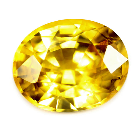 1.62ct Certified Natural Yellow Sapphire