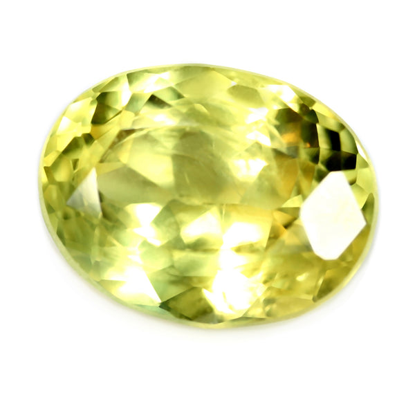 1.71ct Certified Natural Yellow Sapphire