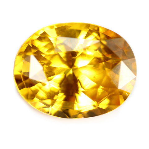 2.22ct Certified Natural Yellow Sapphire