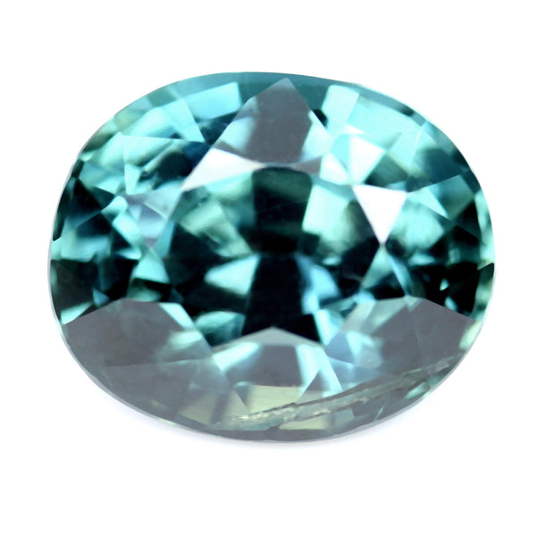 1.24ct Certified Natural Teal Sapphire