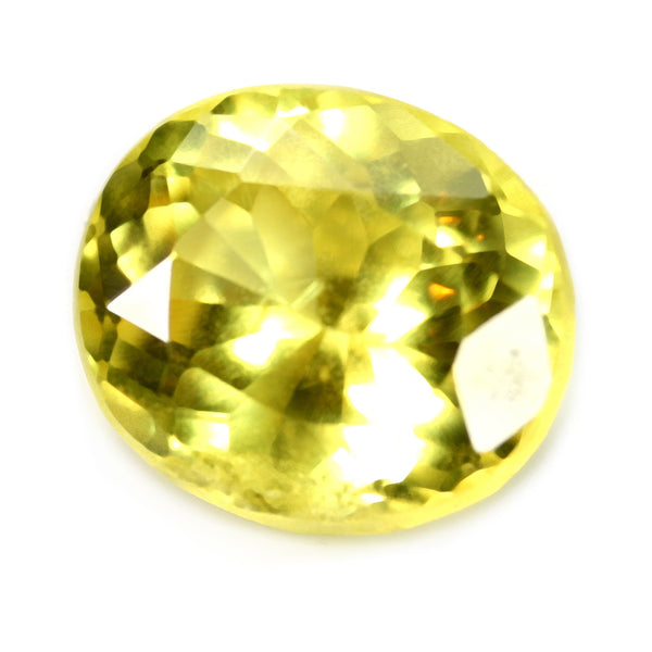 1.28ct Certified Natural Yellow Sapphire