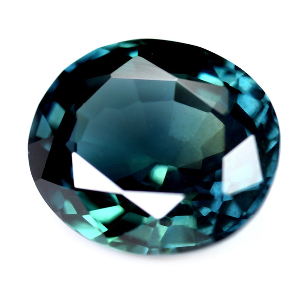 1.81ct Certified Natural Teal Sapphire