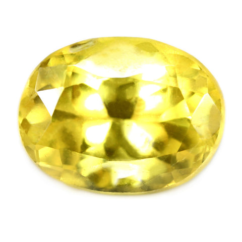 1.45ct Certified Natural Yellow Sapphire