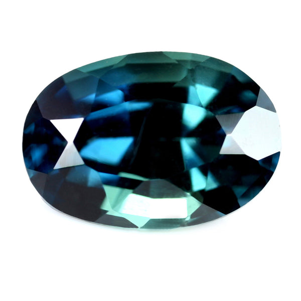 1.31ct Certified Natural Teal Sapphire