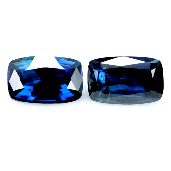 0.92ct Certified Natural Blue Sapphire Pair