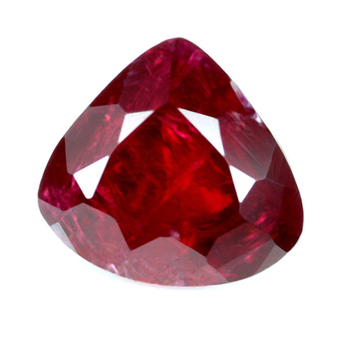 0.70ct Certified Natural Red Ruby